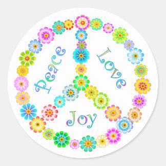 Peace Love Joy Round Sticker