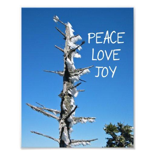 Peace Love Joy - Simple Holiday Wish Art Photo