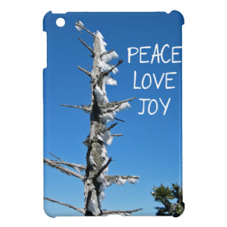 Peace Love Joy - Simple Spruce Tree iPad Mini Cases