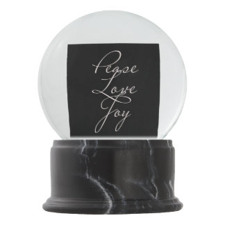 Peace Love Joy Snow Globe