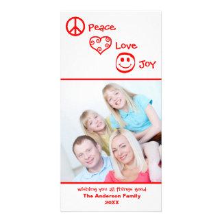 Peace, Love, Joy Vertical - Photocard Card