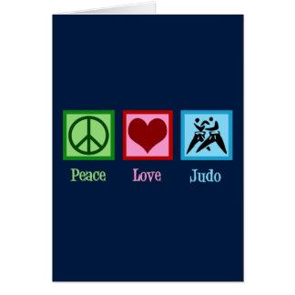 Peace Love Judo Card