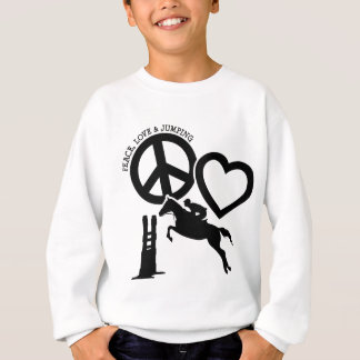 PEACE-LOVE-JUMPING SWEATSHIRT