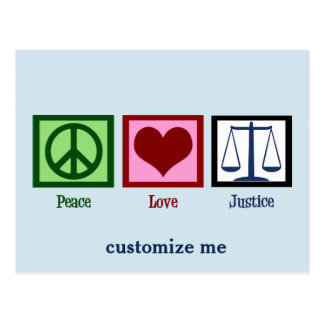 Peace Love Justice Postcard