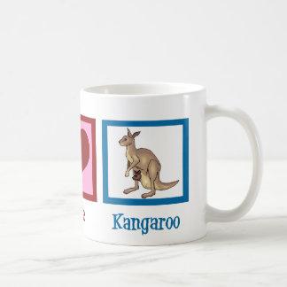 Peace Love Kangaroo Coffee Mug