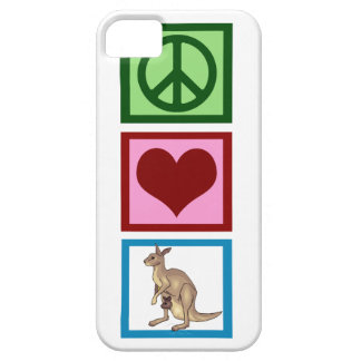 Peace Love Kangaroos iPhone 5 Case