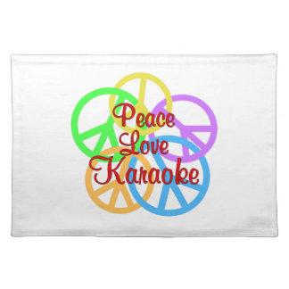 Peace Love Karaoke Placemats