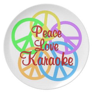 Peace Love Karaoke Plates