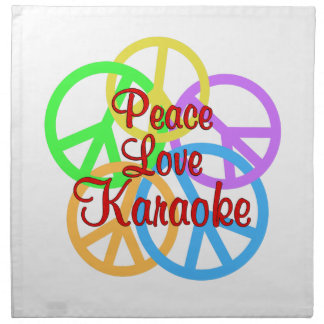 Peace Love Karaoke Printed Napkins