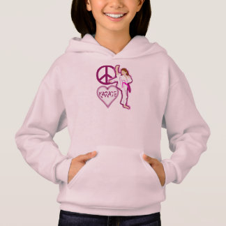 Peace Love Karate Girl Customize Personalized