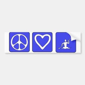 Peace Love Kayaking Bumper Sticker