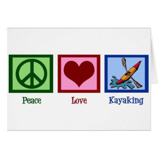 Peace Love Kayaking Card