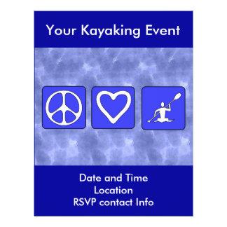 Peace Love Kayaking Flyer