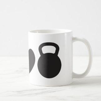 "Peace, Love, & Kettlebell"" Mug"