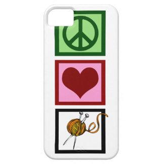 Peace Love Knit iPhone 5 Case