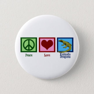 Peace Love Komodo Dragons 2 Inch Round Button