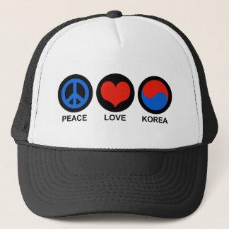 Peace Love Korea Trucker Hat