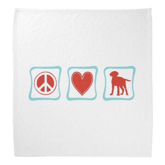 Peace Love Labrador Retrievers Squares Head Kerchief