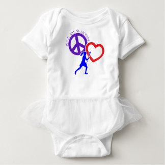 PEACE-LOVE-LACROSSE BABY BODYSUIT