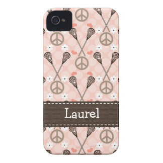 Peace Love Lacrosse iPhone 4 4s Case-Mate Cover