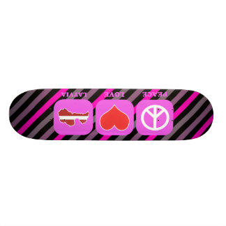 Peace Love Latvia Skate Board