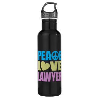 Peace Love Lawyer 710 Ml Water Bottle