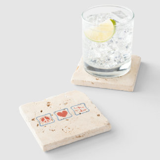 Peace Love Lawyers Squares Stone Coaster