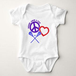 PEACE-LOVE-LAX BABY BODYSUIT
