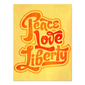 Peace Love Liberty Magnet Magnetic Invitations