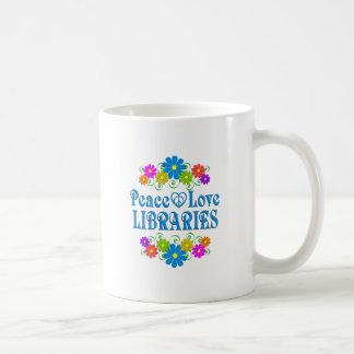 Peace Love Libraries Coffee Mug
