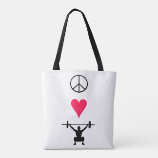 Peace Love Lift - All-Over Tote