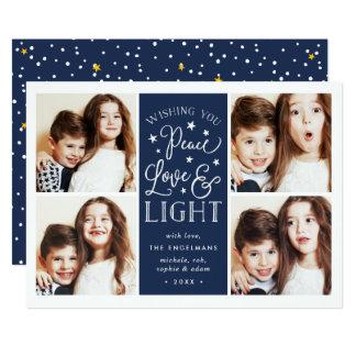 Peace, Love & Light | Hanukkah Photo Card