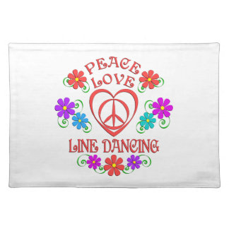 Peace Love Line Dancing Placemat