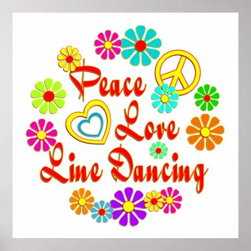 PEACE LOVE Line Dancing Print