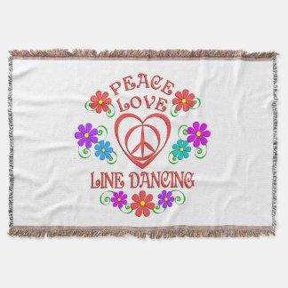 Peace Love Line Dancing Throw Blanket