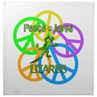 Peace Love Lizards Cloth Napkin