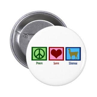 Peace Love Llamas 2 Inch Round Button