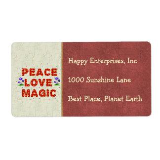 Peace Love Magic Shipping Label