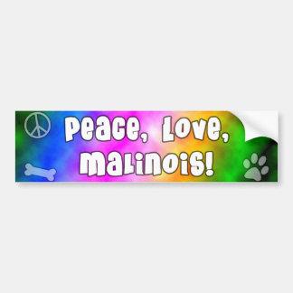 Peace Love Malinois Bumper Sticker