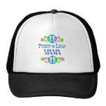 Peace Love Mama Trucker Hats