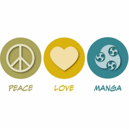 Peace Love Manga Acrylic Cut Outs