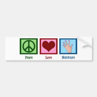 Peace Love Manicure Bumper Sticker
