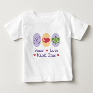 Peace Love Mardi Gras Baby T Shirt