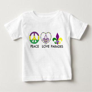 PEACE LOVE MARDI GRAS BABY T-Shirt