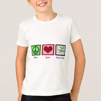 Peace Love Mardi Gras Kids T-Shirt