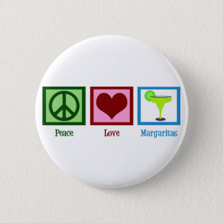 Peace Love Margaritas 2 Inch Round Button