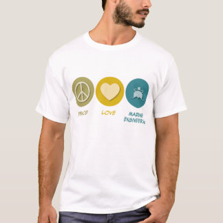 Peace Love Marine Engineering T-Shirt