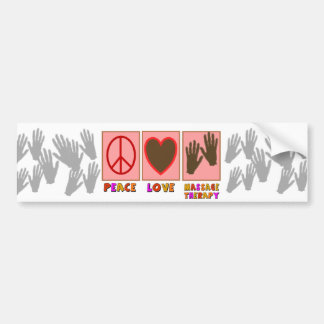 Peace, Love, Massage Therapy Bumper Sticker