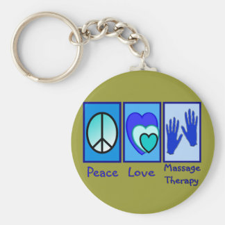 Peace, Love, Massage Therapy Gifts Key Chains