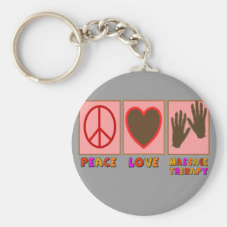 Peace, Love, Massage Therapy Key Chain